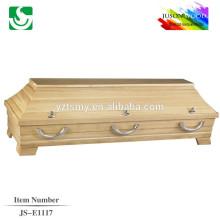 high quality teak cheap coffin