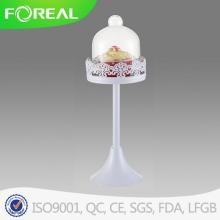 Metal Cupcake Stand with Glass Dome