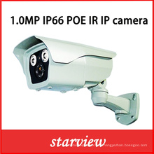 1.0MP IP Poe IR impermeable Bullet red CCTV cámara de seguridad