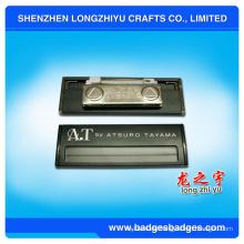 Messinggravur magnetisches Namensschild-Abzeichen von China