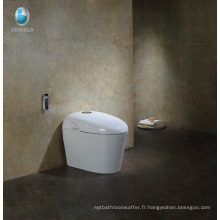 Petite toilette intelligente intelligente de chasse de siège de siège chauffé par blanc de coton avec le bidet de toilette