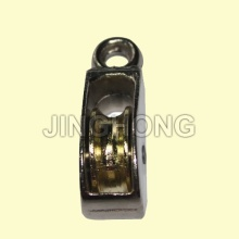 Nickel Plated Fixed Eye US Type Pulley With Single Wheel