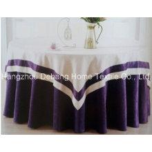 Hochwertige Jacquard Textile Tischdecke für Hotel Bankett