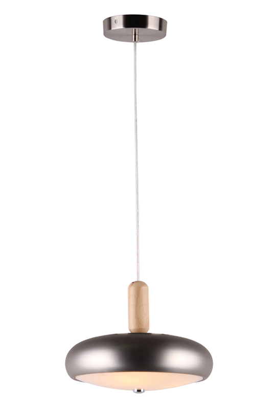 Sandy Silver Iron Glass Pendant Lamp