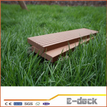 Waterproof smooth surface WPC solid decking for Garden application