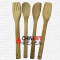 Ensemble d'ustensiles de cuisine en bambou (CB05)