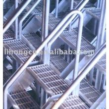 Stair treads,stair grating,ladder steps,steel grating