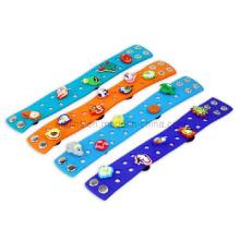 Cartoon Soft PVC Bracelet with Snap-Fastener