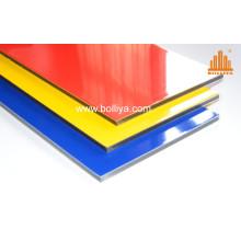 Bicolor High Gloss Glossy Printable Aluminium Composite Signage Panel for Shopfront Printing