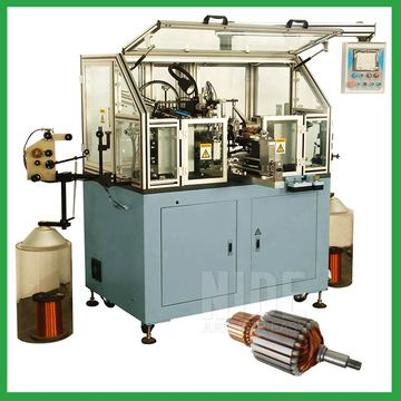 Automatic electric motor armature flyer coil winding machine for sale