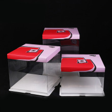 Transparent clear plastic cake box