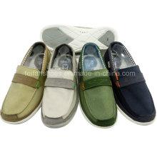 Обувь горячая Распродажа Мужская мода скольжения на обувь досуг холст обувь