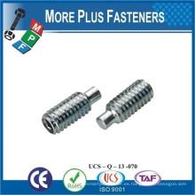 Fabricado en Taiwán DIN 915 ISO 4028 ANSI B18 3 Tornillo hexagonal de 6 M con tornillo con punta de perro