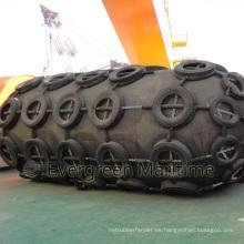Defensas neumáticas de goma de 2 MX 3.5 M, guardabarros flotantes del tipo de Yokohama, defensas neumáticas