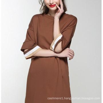 Spring Round Neck Special Sleeve Elegant Women′s Dress