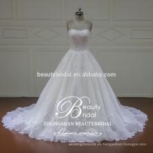 XFM015 elegante vestido de novia vestido de baile con vestidos de novia desmontable chaqueta de encaje 2017