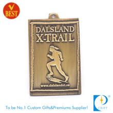 Hochwertige maßgeschneiderte Messing-3D-Marathon-Medaille mit Druckstanzen