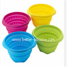Promotion Collapsible Plastic Silicon Cullender