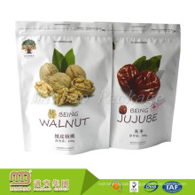 Custom Design Printed Snack Food Walnut / Jujube Packaging Stand Up Pouch With Zip