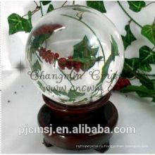 красивая персонализированные хрустальный шар для бизнес-подарок ,сувенир