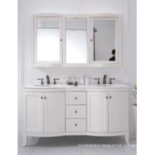 Wooden One Main Cabinet Mirrored Modern Bathroom Cabinet (JN-8819717D)
