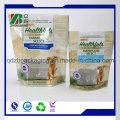 Упаковка из пластиковой алюминиевой фольги с застежкой-молнией для корма для домашних животных