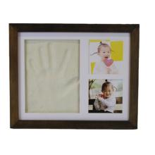 High quality wholesale custom Wood frame Safe use baby handprint kit frame for decoration