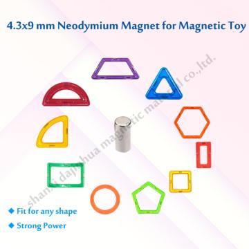 Toy Magnets D4.3*9mm Standard N35 Grade 4000GS