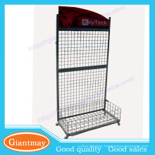 wire mesh socks metal display stands with wire basket