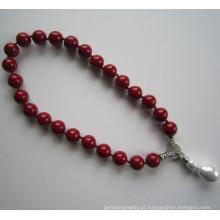 Natural Shell Beads moda colar redondo
