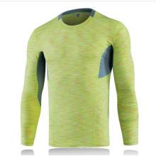 Camiseta de entrenamiento deportiva de manga larga apretada de 5 colores para hombres