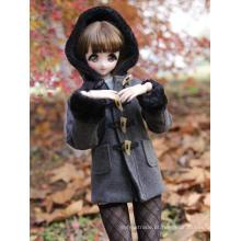 Casaco de roupas de menina cinza escuro para SD / DD / MSD