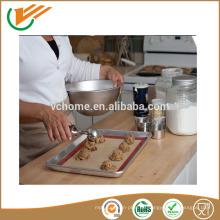 2015 Heiße verkaufende Qualitäts-bunte Nahrungsmittelgradsilikonhitzebeständige Wannenmatten