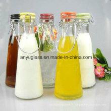 Bouteille d'eau en verre pour boissons à base de lait