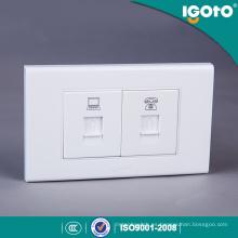 Igoto American Style A1072-3 Ordenador y Teléfono, Rj11 Wall Socket
