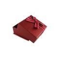 Caixa de jóias de plástico vermelho afortunado com Bowknot