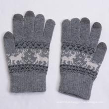 Quente mantendo luvas de toque de lã grossa