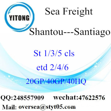 Shantou Port Sea Freight Shipping à Santiago