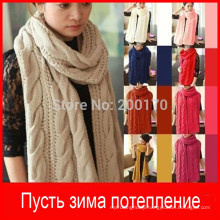 2015 New Fashion Korean autumn winter scarf women Warm Knit Neck Circle Wool Blend Cowl Snood Ring Scarves Long Scarf Shawl Wrap