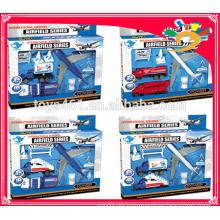 Heißer Verkauf der gegossenen Flughafenspielsatz-Flugplatz-Reihenspielwaren für Verkauf