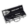 Инструменты барбекю 3pcs вспомогательные с алюминиевым случаем
