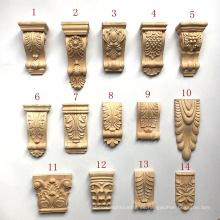Piezas de muebles de artesanía a mano Marco de madera tallada Corbels Capitales