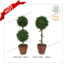 24′′ Plastic Artificial Ball Tree Artificial Flower for Garden Decoration