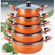 Ensemble de cuisinières antiadhésives en aluminium 10PCS