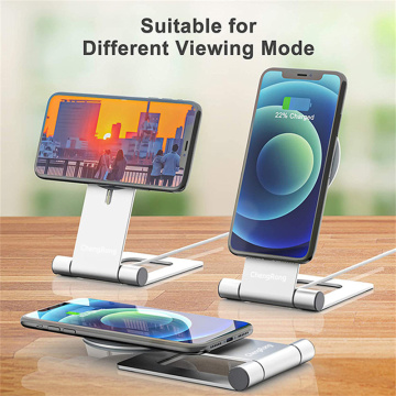 Алюминиевая подставка для телефона с магнитным беспроводным зарядным устройством