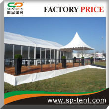 Tentes en verre Guangzhou 20x35m avec pagode d'entrée 5x5m