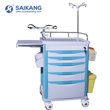 SKR-ET121 Hospital Functional ABS Medical Nursing Utility Trolley With Casters