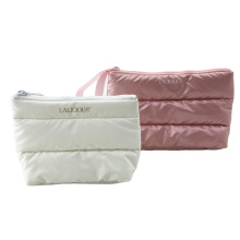 Fashion Custom Quilting Portable Puffy Makeup Bags Pouch Travel Cosmetic Bag