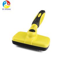 Escova do cão auto limpeza slicker pet derramamento grooming tool Escova do cão auto limpeza slicker pet derramamento grooming ferramenta