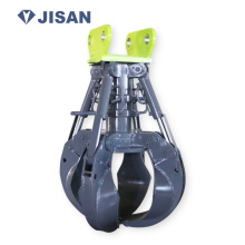 Excavator hydraulic rotary Grapple orange peel grab